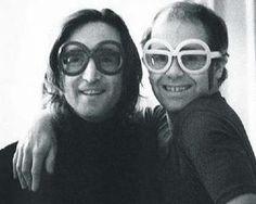 John lennon and Elton John <3