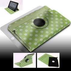 APPLE IPAD MINI CASE COVERSCREEN PROTECTOR SWIVEL POLYURETHANE GREEN WAKE SLEEP
