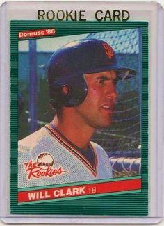 NICE CARD! Will Clark 1986 Donruss RC Rookie Card #32 San Francisco Giants *Free Shipping!*