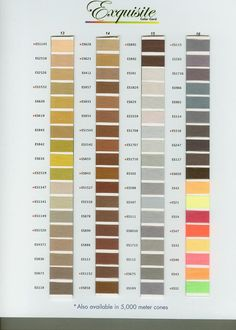 exquisite poly thread color chart page 4 - Gutermann Thread Color Chart