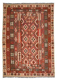 kilim - Kilim Afegão 268x194 cm.
