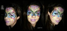 flowery mask face paint