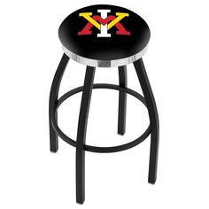 Virginia Military Institute Keydets Swivel Stool Black w/ Chrome Accent