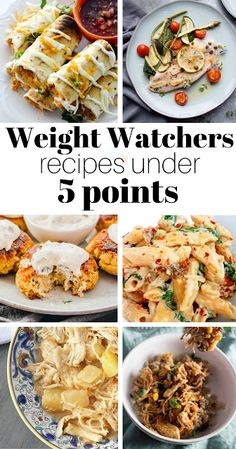 Weight Watchers Recipes Under 5 Points - Fave Family Recipes Supper Recipes, Ww Recipes, Lunch Recipes, Easy Dinner Recipes, Mexican Food Recipes, Easy Meals, Healthy Recipes, Family Recipes, Healthy Habits