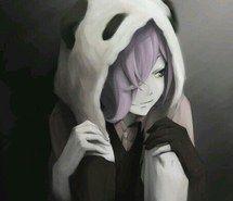 alternative, anime, black and white, emo, girl, grunge, panda