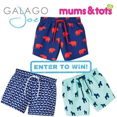 GIVEAWAY TIME ✨🌈 We are so excited to have teamed up with@galagojoe to giveaway 3 x pairs of boys swimming shorts worth €125 Introducing…