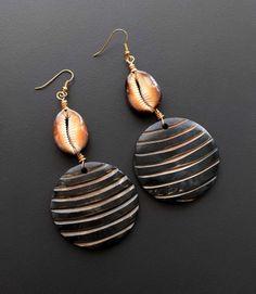 Boho Earrings Gifts for Her Fun Earrings Hip Jewelry Mudcloth Terracota Organic Dangle Earrings Modern Earrings