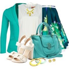 Summer Office Outfit by averbeek on Polyvore featuring Tory Burch, Le Temps Des Cerises, Eggs, Joan & David and Banana Republic