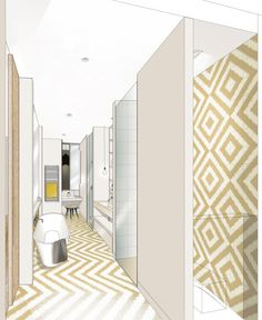 dessin perspective croquis paysage artiste alexandre trubert a t elier 16 design architecte. Black Bedroom Furniture Sets. Home Design Ideas