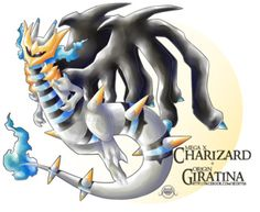 Mega Charizard x + Origin Giratina