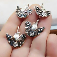 My birds are about to fly! So cute and lightweight silver dangle earrings!