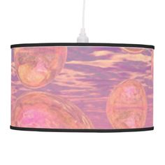 Glorious Skies, Pink and Yellow Dream Abstract Lamp - hanging pendant, modern, contemporary