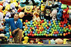 Pop a Balloon Midway Game Carnival Rides, Carnival Themes, Farris Wheel, Midway Games, Fair Day, Balloon Games, Big Teddy Bear, Fair Games, Skin Care Cream