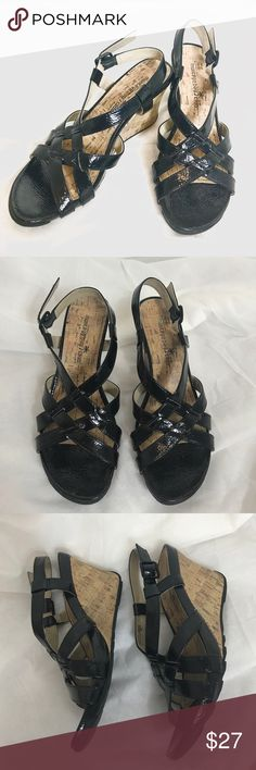 """Montego Bay Wedge Sandals Great pre-loved condition. No damage. Heel ht. 3"""". Montego Bay Club Shoes Sandals"""