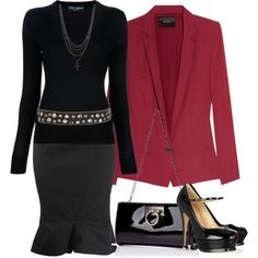 """Studded"" by melindatg on Polyvore"