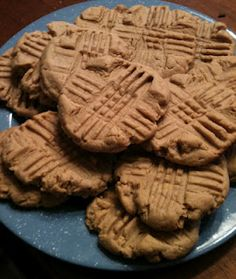 Delish. - Peanut Butter Cookies from scratch