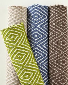 Diamond Indoor-Outdoor Woven Rug by Dash and Albert - Garnet Hill