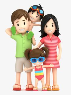 Three-dimensional cartoon characters creative PNG and Clipart Happy Family, Family Love, Mother Clipart, Family Clipart, Clip Art, Cartoon Kids, 3d Cartoon, Cartoon Design, Fondant Figures