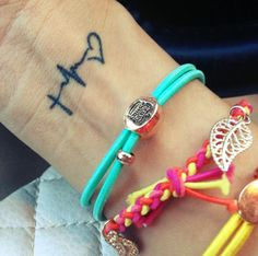 Faith Hope Love Tattoo on wrist on We Heart It