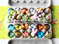 Flip the script on the #Easter basket by using an egg carton as your vessel.