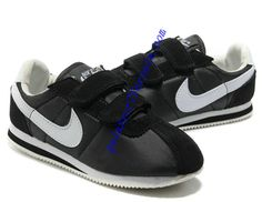 Nike Classic Cortez Nylon Kids White Black Shoes