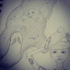 #nightmare #pencil #sketch #doodle #illustration