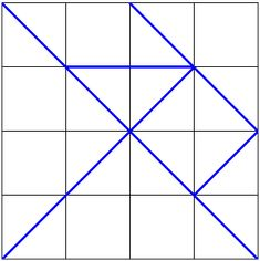 Making a tangram from equal squares (This site has LOTS of tangram shape ideas)