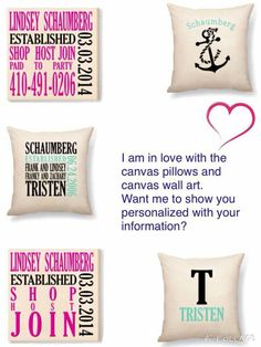 June weddings are coming! How great would our new canvas pillow or ...