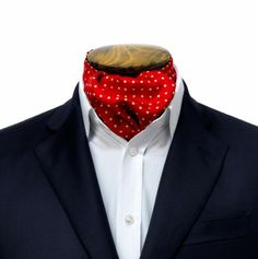 Ascot Tie - Red with Medium White Spots | Turnbull & Asser