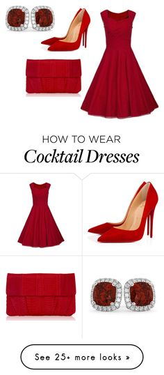 """Sin título #3748"" by ceciamuedo on Polyvore featuring WithChic, Christian Louboutin, Inge Christopher and Allurez"