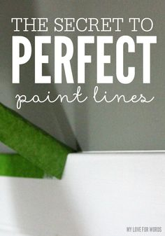 Secret to creating perfect paint lines