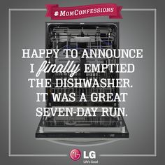 Running out of clean dishes will do that to you. #MomConfessions