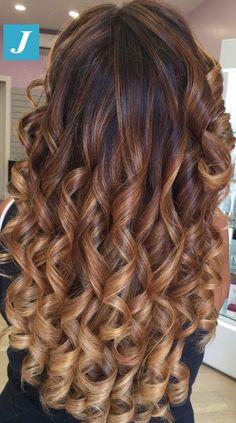 Big Curls For Long Hair, Dark Hair Makeup, Curly Hair Styles, Natural Hair Styles, Brown Hair With Blonde Highlights, Joelle, Permed Hairstyles, Forever, Ginger Hair