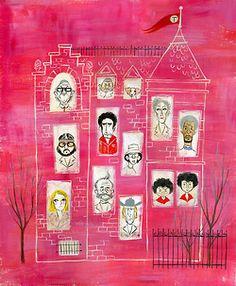 The Royal Tenenbaums illustration by Brigette Barrager