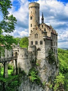 11 Awesome Castles from Around the World — Lichtenstein Castle, Baden-Wurttemburg, Germany. The original Cinderella Castle. #travel #castle #Germany