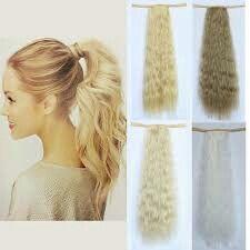 Mega Hair Tic Tac, Free, Light Blonde, Synthetic Hair, Ponytail, Keratin, Beauty Tricks, Curly, Beauty Tips
