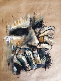 2015 paintings: acrylics, charcoal on paper art boards, human painting, hum Life Drawing, Figure Drawing, Painting & Drawing, Human Painting, Painting Inspiration, Art Inspo, Arte Sketchbook, A Level Art, Illustration