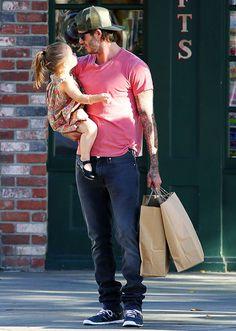 David Beckham and adorable daughter Harper