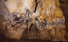 Chauvet wall. The paintings there are the oldest known, carbon-dated to approximately 33,000 years ago, almost twice the age of the Lascaux cave paintings. The dates have been a matter of dispute but a study published in 2012 supports placing the art in the Aurignacian period, approximately 30,000-33,000 BP