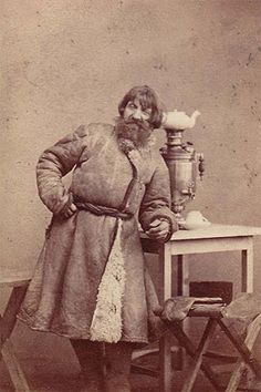 Peasant with Samovar by William Carrick