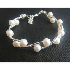 Zucht Perlenschmuck Hochzeit Echtsilber Armband