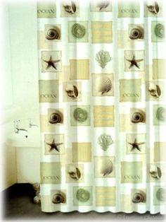 Amazon.com: Sea Shell Tropical Bathroom Shower Curtain: Home & Kitchen