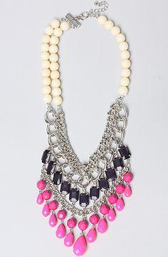 The Multi Bead Bib Necklace