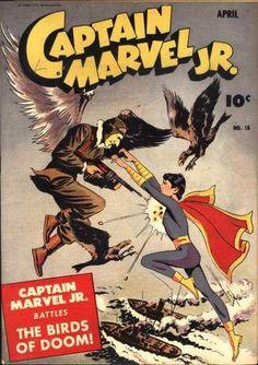 cover by Mac Raboy. Captain Marvel Shazam, Mary Marvel, Original Captain Marvel, Vintage Comic Books, Vintage Comics, Comic Book Artists, Comic Books Art, Pulp Fiction Comics, Dc Comics Collection