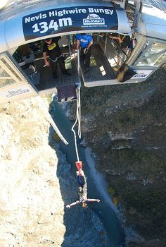 At the time I never loved that place, Nevis Bungy  Queenstown, New Zealand  My first jump! but now I do :)))