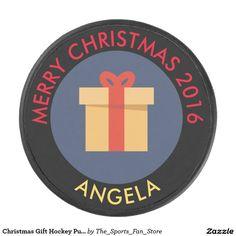 Christmas Gift Hockey Puck