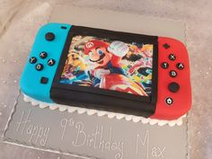 Super Mario Party, Super Mario Cake, Mario Birthday Cake, Super Mario Birthday, 6th Birthday Parties, Boy Birthday, Birthday Ideas, Nintendo Party, Nintendo Cake