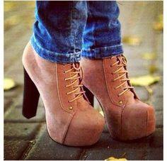 I'm not a heel kinda girl, but I'd definitely rock these! Sooo cute. Jeffrey Campbell Litas