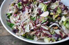 Fennel and Radicchio Winter Salad with Pecans