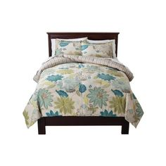 Floral Comforter Set - Threshold™ : Target ($80) ❤ liked on Polyvore featuring home, bed & bath, bedding, comforters, flowered comforters, floral comforter sets, flowered bedding, floral bedding and floral comforters